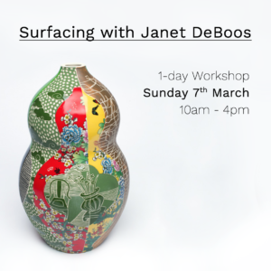 Workshop with Janet DeBoos at Slow Clay Centre